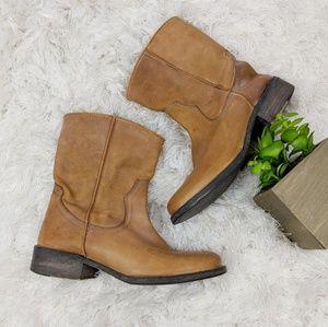 STEVE MADDEN VINTIGEE short light brown ankle boot